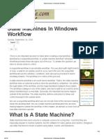 State Machines in Windows Workflow