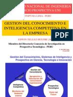 Gestion Del Conocimiento e Inteligencia Competitiva en La Empresa