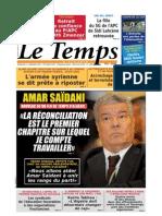 Le Temps d Algerie Du 01.09.2013