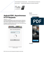 Android SDK Asynchronous HTTP Requests