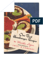 Our Best Hamburger Recipes, by Martha Logan.  Home Economist Swift & Company.  Undated, ca. 1951