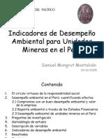 Indicadores de Desempeño Ambiental para Unidades Mineras en el Perú