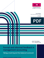 Formal and Informal Feedback in Management Accounting