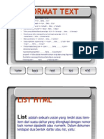HTML List Dan Link