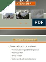 textile internship at vardhman