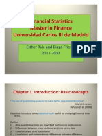 Chapter 1 Financial statistics