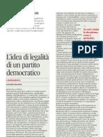 il pd e l'idea di legalità