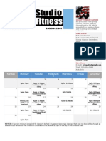 Group Fitness Sept 2013