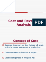 Cost and Revenue Analysis