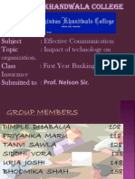 Impact of Technology,Ppt