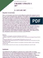 Pediatric Surgery Update Vol Ume 28, 2007