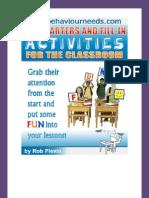 Lesson Starter Activities