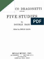 Domenico Dragonetti - Five Studies for Double Bass
