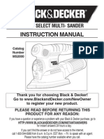 Black&Decker 4-in-1 SmartSelect Multi Sander