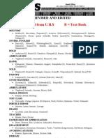 VOCABULARY Notes (UHS Vocabulary List)
