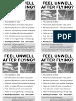 Aerotoxic Syndrome or Chemtrail syndrome, Passenger Flyer, 4 on A4 PDF