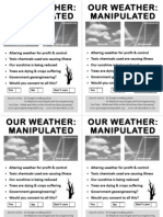 Geoengineering Awareness  Street Leaflet. 4  Flyers on A4 PDF
