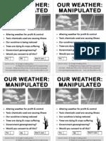Geoengineering Awareness  Street Leaflet. 4  Flyers on A4 PDF