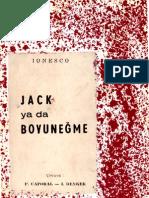 Eugene Ionesco - Jack ya da Boyuneğme [MGB 00069b]