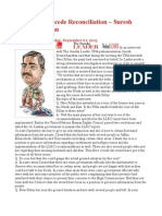 Truth Will Precede Reconciliation – Suresh Premachandran