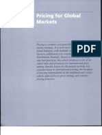 Reading-Pricing for Global Markets