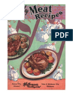 Medley of Meat Recipes.  Undated, ca. 1950's.