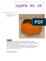 Crocheted Pumpkin Pincushion