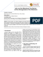 Vladislav B. Sotirovic's article on Who are the Albanians?, History Research, September 30, 2013