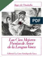 Las cien mejores poesías de Amor de la Lengua Vasca