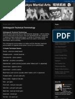 Uchinaaguchi technical terminology for Okinawan karate
