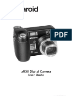 Polaroid x530 digital camera user guide