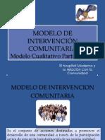 DIAPOSITIVAS MODELO DE INTERVENCIÓN COMUNITARIA