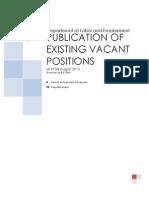 DOLE Vacancies as of 08-08-13