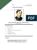 Rizal's Resume