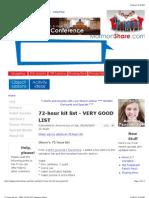 72-Hour Kit List - VERY GOOD LIST   Mormon Share