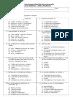 Evaluación Semestral  de Historia 28.11.2012