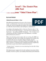"""Greater Israel"" - The Zionist Plan for the Middle East - The Infamous Oded Yinon Plan"