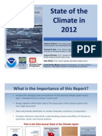 State of the Climate 2012 Webinar Briefing Slides