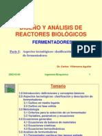 1. Diseno y Analisis de Biorreactores ParteI