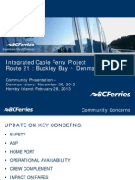 Cable Ferry Presentation - Fall and Winter 2012
