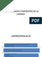 ANORMALIDADES CONGÉNITAS DE LA LARINGE