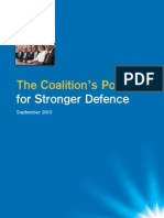The Coalition's Policy Document for Stronger Defence
