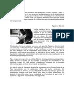 Biografia de Miguel Angel Asturias y Rigoberta Menchu