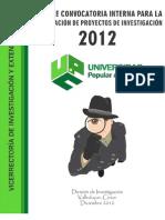 Informe Convocatoria Interna de Grupos 2012