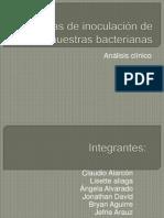 Técnicas de inoculación de muestras bacterianas