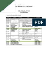 Planificación clases teóricas y parciales 2013