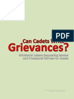 Can Cadets Write Grievances?