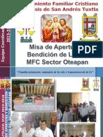 Misa de Apertura MFC Oteapan CBF 2013-2014