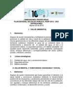 Redefinicion de Las Dimensiones PDSP 2012 2021