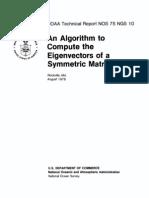 An Algorithm to Compute Eigenvectors of a Square Matrix